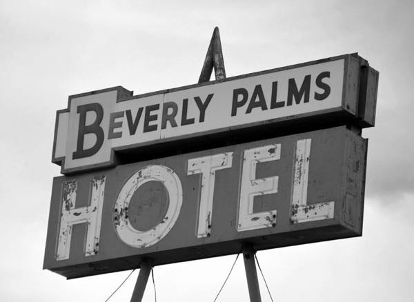 Wall Art - Photograph - Bp Hotel Sign 1940s by David Lee Thompson