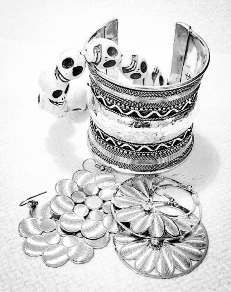 Photograph - Bracelets And Earrings by Cate Franklyn