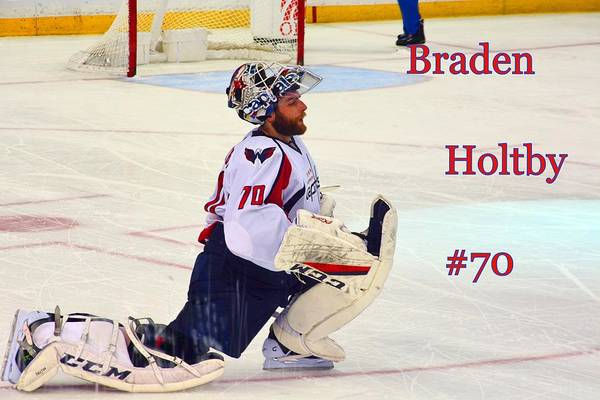Washington Capitals Photograph - Braden Holtby #70 by Lisa Wooten