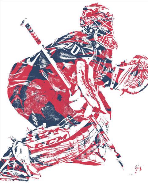 Wall Art - Mixed Media - Braden Holtby Washington Capitals Pixel Art 12 by Joe Hamilton