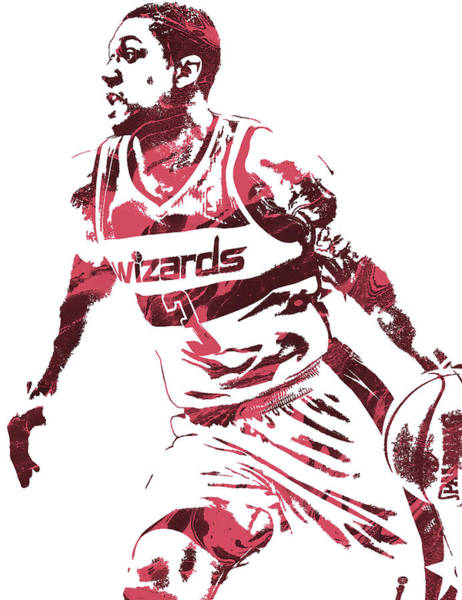 Nba Mixed Media - Bradley Beal Washington Wizards Pixel Art 3 by Joe Hamilton