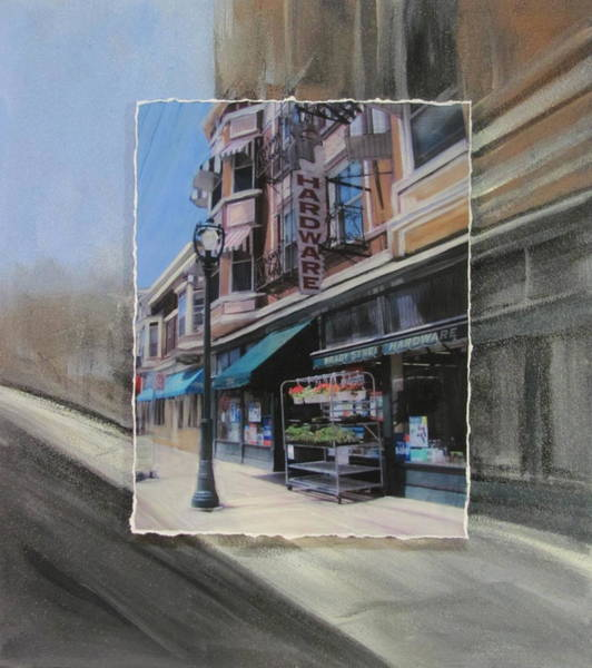 Mixed Media - Brady Street - Hardware Layered by Anita Burgermeister