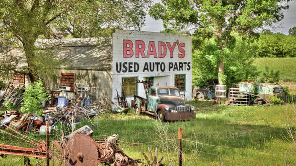 Wrecking Yard Photograph - Brady's Used Auto Parts 1 by Chad Rowe