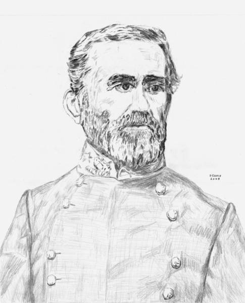 Confederate Soldier Drawing - Bragg by Dennis Larson