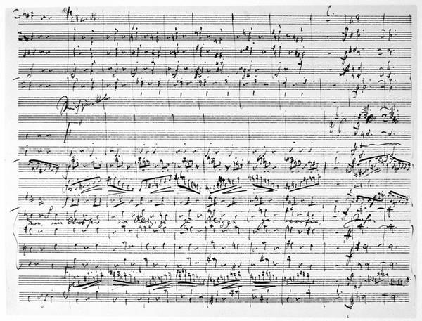 Photograph - Brahms Manuscript by Granger
