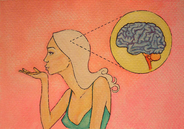 Brain Painting - Brains And Beauty by Ramey Guerra