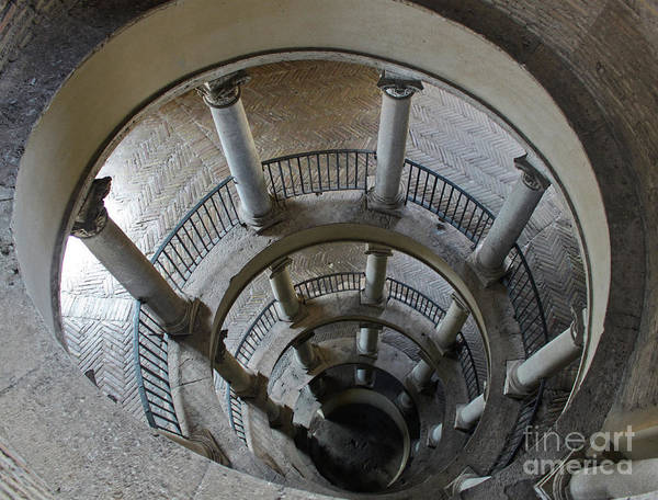 Photograph - Bramante Staircase In The Vatican Museum by Gregory Dyer