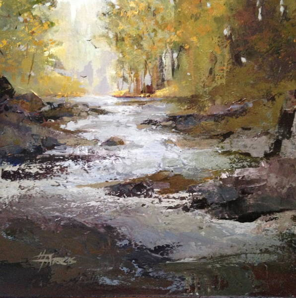 Painting - Bramble Brook by Helen Harris