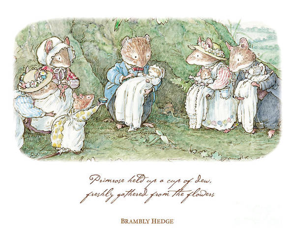 Wall Art - Drawing - Brambly Hedge Naming Ceremony by Brambly Hedge