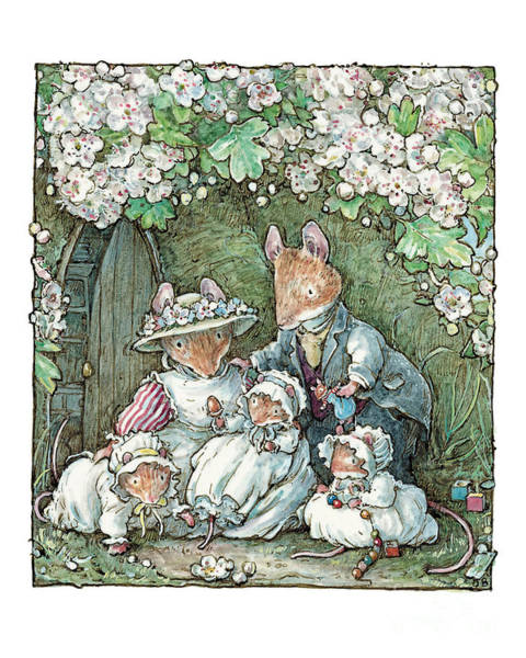 Wall Art - Drawing - Brambly Hedge - Poppy Dusty And Babies by Brambly Hedge