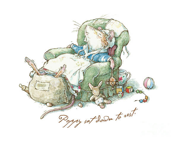 Wall Art - Drawing - Brambly Hedge - Poppy Sat Down To Rest by Brambly Hedge