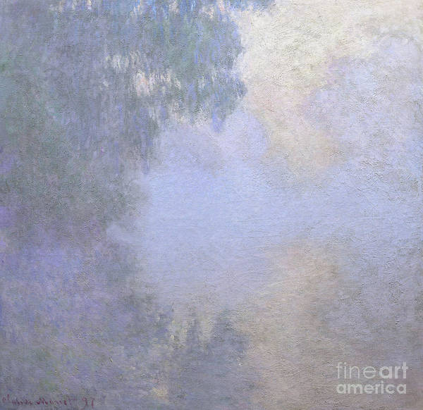 Wall Art - Painting - Branch Of The Seine Near Giverny  Mist by Claude Monet