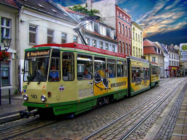 Photograph - Brandenburg Streetcar by Anthony Dezenzio