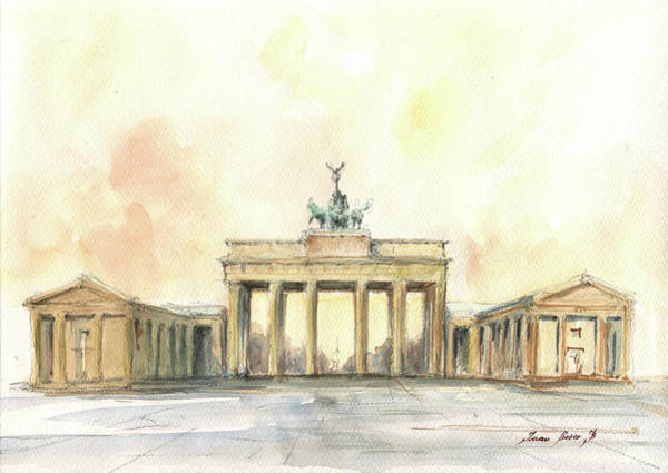 Wall Art - Painting - Brandenburger Tor, Berlin by Juan Bosco
