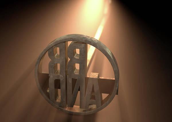 Burn Digital Art - Branding Iron Brand by Allan Swart
