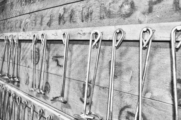 Branding Iron Photograph - Branding Irons Black And White Photography by Ann Powell