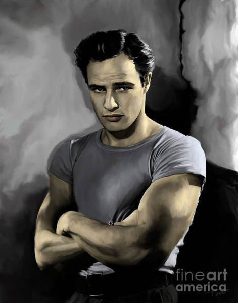 Entertainer Painting - Brando - Color by Paul Tagliamonte