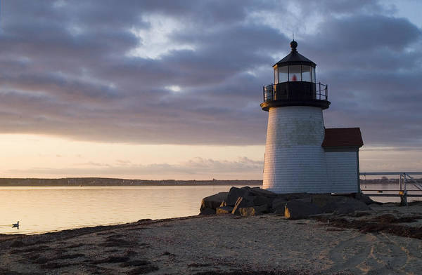 New England Photograph - Brant Point Light Number 1 Nantucket by Henry Krauzyk