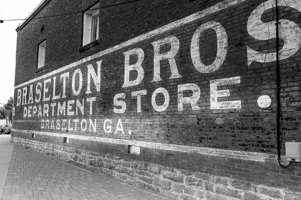 Photograph - Braselton Bros, Inc Sign In Bw by Doug Camara