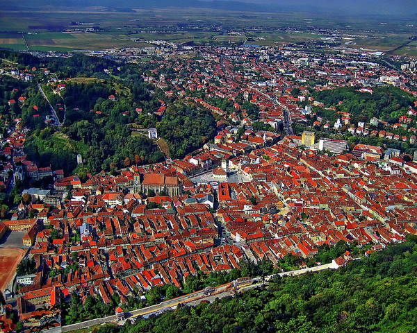 Photograph - Brasov Panoramic View by Anthony Dezenzio