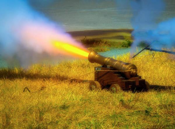 Wall Art - Photograph - Brass Cannon Firing by Garry Gay