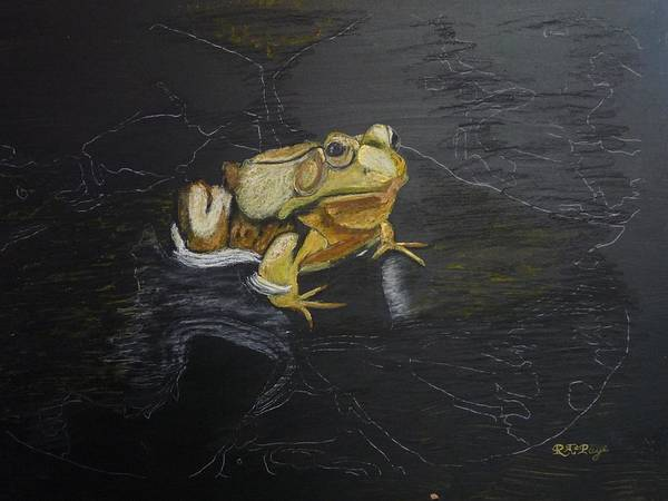 Pastel - Brass Frog by Richard Le Page