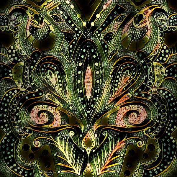 Digital Art - Brassy Fleur De Lys Mandala by Artful Oasis