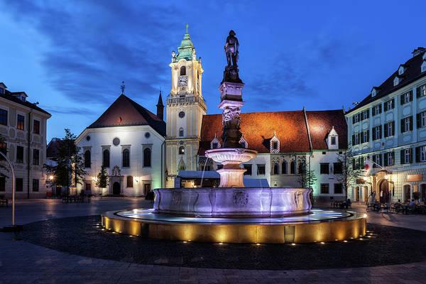 Bratislava Photograph - Bratislava Old Town Square By Night by Artur Bogacki