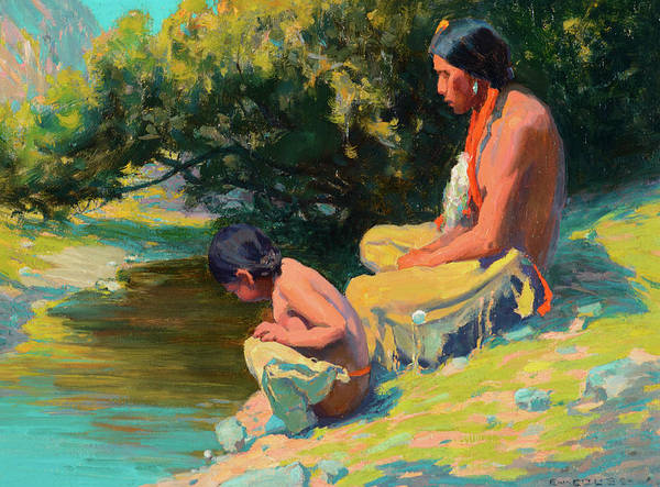 Wall Art - Painting - Brave And Son by Eanger Irving Couse