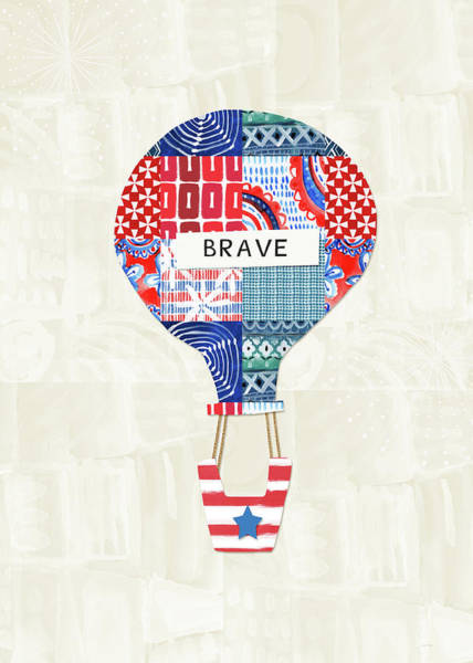 Brave Balloon- Art By Linda Woods Art Print