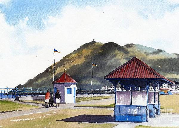 Painting - F 765   Bray Prom And Kiosks by Val Byrne