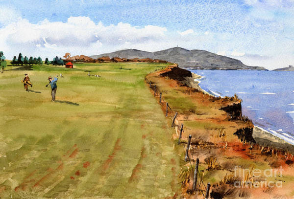 Painting - F 785  Bray Golf 11th Hole by Val Byrne