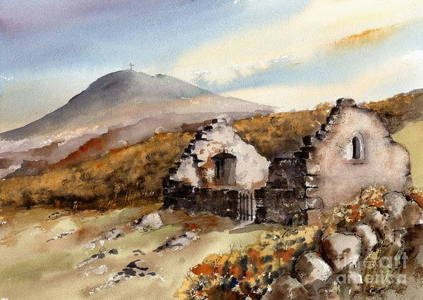 Painting - Bray Head... Raheen A Cluig by Val Byrne