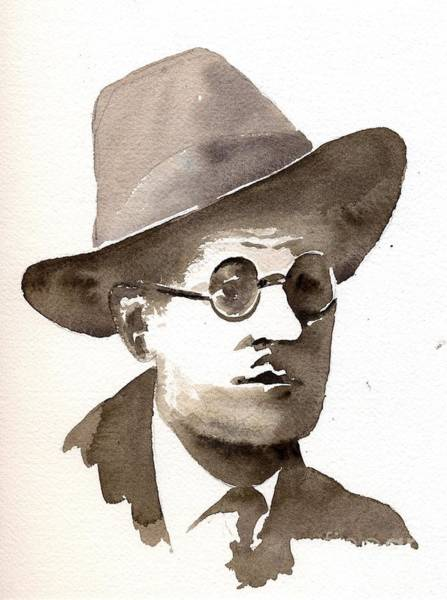 Painting - F 805 Bray... James Joyce by Val Byrne