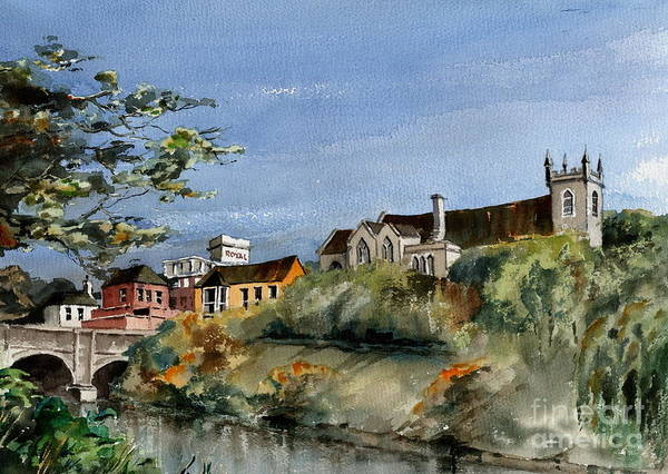 Painting - Bray...dargle Bridge  by Val Byrne