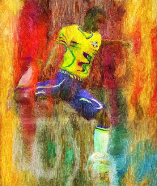 Digital Art - Brazil Soccer Team Uniform by Caito Junqueira