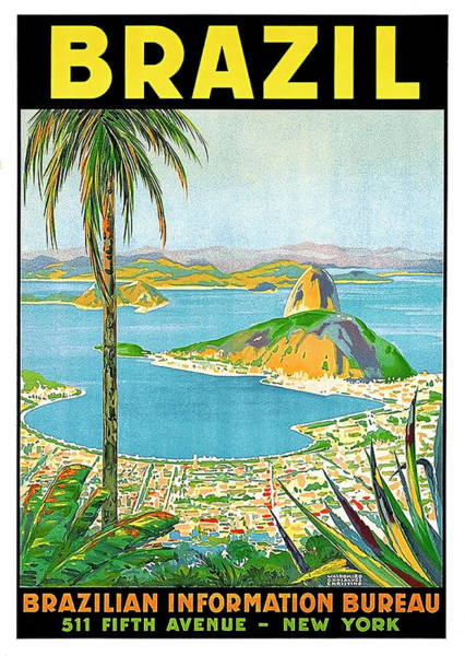 Brazil Painting - Brazil, View On Harbor by Long Shot