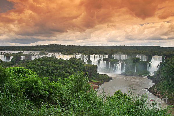 Photograph - Brazil,iguazu Falls,spectacular View by Juergen Held