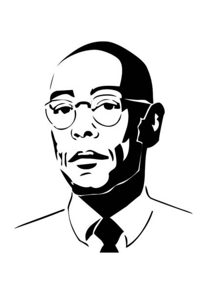 Gus Wall Art - Digital Art - Brba Breaking Bad Gus Fring by Geek N Rock