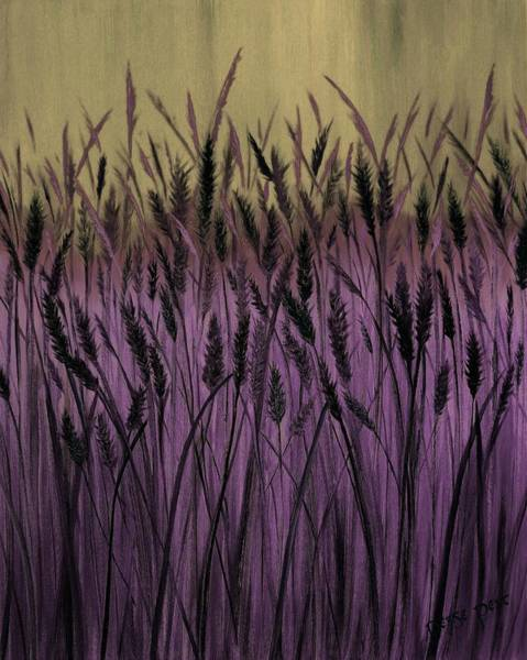 Meadowlands Painting - Fields Of Wheat #2 by Denise C Peat