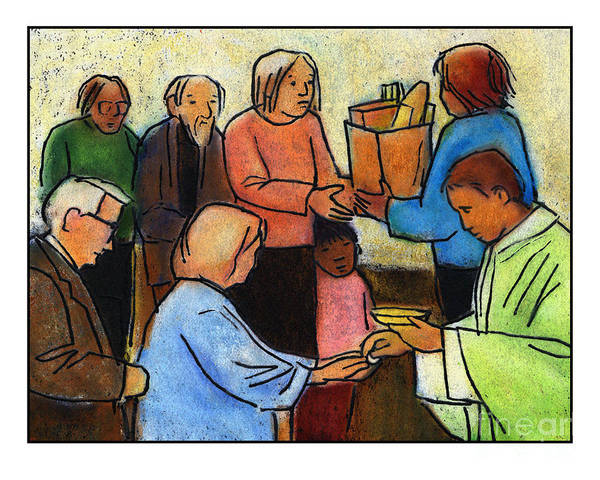 Painting - Bread Lines - Jlbel by Julie Lonneman