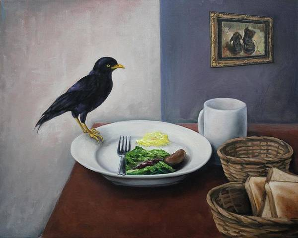 Breakfast At The Bird Park Art Print by Michelle Barone