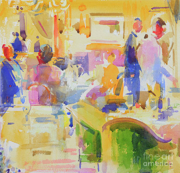 Wall Art - Painting - Breakfast At The Carlyle, New York by Peter Graham