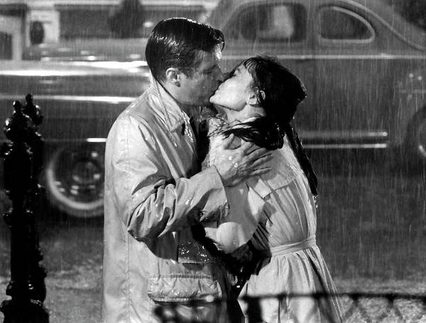 Photograph - Breakfast At Tiffanys Audrey Hepburn And George Peppard by R Muirhead Art