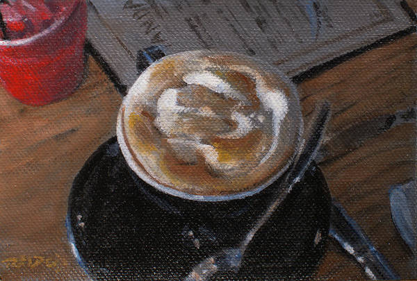 Painting - Breakfast Cappuccino by Christopher Reid