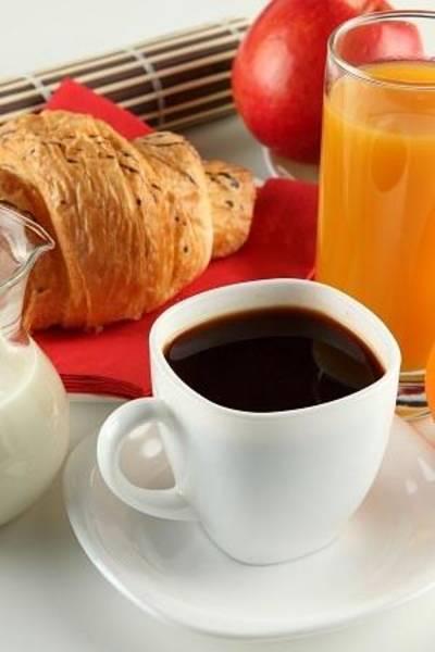 Jug Digital Art - Breakfast Coffee Milk Orange Juice Croissant Apple Cup White Saucer Jug 75192 300x450 by Mery Moon