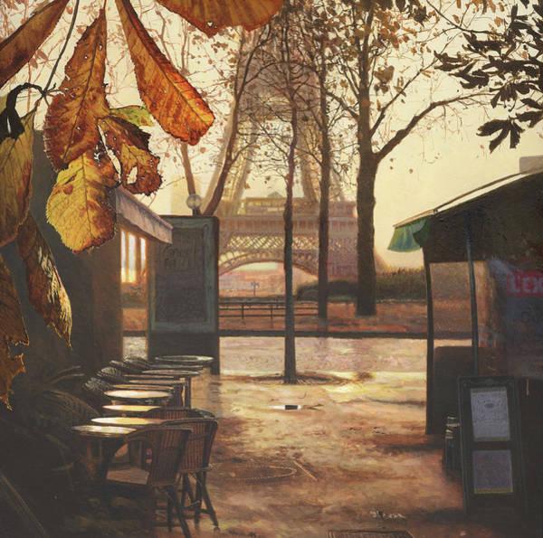 Paris Painting - Breakfast In Paris by Helen Parsley