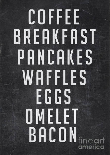 Wall Art - Digital Art - Breakfast List by Edward Fielding