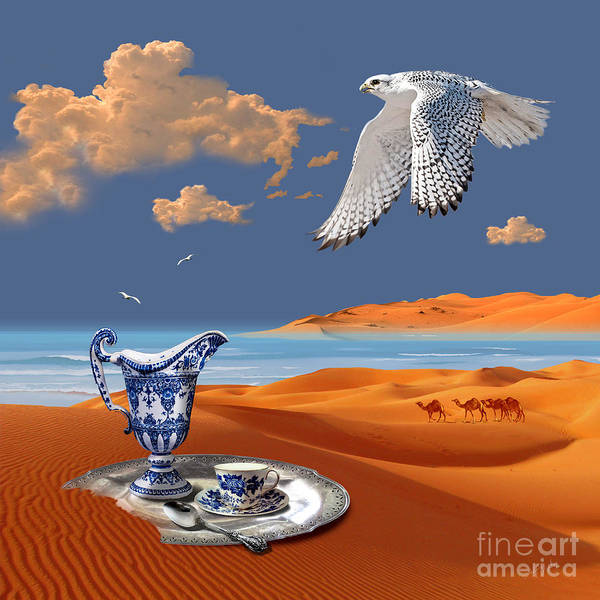 Digital Art - Breakfast With White Falcon by Alexa Szlavics