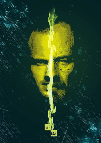 Digital Art - Breaking Bad Poster Heisenberg Print Walter White And Jesse Pinkman Portrait Wall Decor by IamLoudness Studio